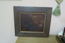 Antique Wood Burning etched picture European Windmill panel wall Art Framed