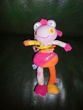 Doudou Grenouille Vibrante Lomolos BABYSUN BABY SUN Rose Orange  TTBE