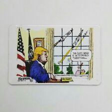 TRUMP PRES. funny joke pic Design Vintage Poster Magnet Fridge Collectible