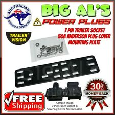 7 Pin Trailer Socket, 50Amp Anderson Plug Cap Cover MOUNTING MOUNT BRACKET 50A