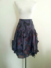 Urban & Edgy! Phidias (Paris) size 38 mulberry cotton & silk skirt