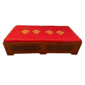 Traditional Hand Crafted Indian Wedding Bridal Foldable Mehndi Bed With Mattress