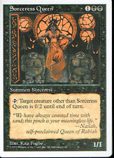 MAGIC THE GATHERING 5TH EDITION BLACK SORCERESS QUEEN