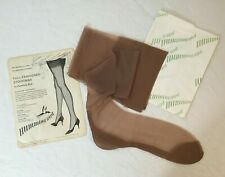 Vintage Hummingbird Seamed Nylon Stockings Nos Size 10.5 Deadstock Nylons Beige 00004000