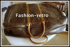 Grande valise Louis Vuitton cuir souple monogrammé vintage suitcase bag