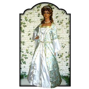 Kostüm Kleid Burgfräulein~Elben~Pompadour~Rokoko Gr M L Karneval~Fasching NEU