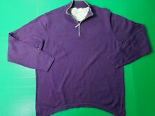 Tommy Bahama 1/4 Zip Pullover Sweater Men's XL Purple Cotton Cashmere Blend L/S