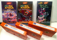 RARE AAAHH!!! Real Monsters VHS Tapes Nickelodeon 3 Videos Box Set Vintage