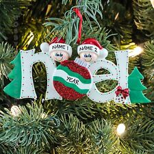Noel Family of 2 Couple Our 1st Christmas Personalized Thee Ornament Rudolph&Me