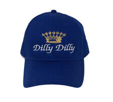 Funny Beer Drinking Dilly Dilly Crown Adult Baseball Cap, Royal