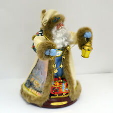 Jingle Bells Santa Christmas Figurine Bradford Exchange - Thomas Kinkade