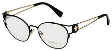 Versace Eyeglasses VE 1250 1009 52 Black/Gold Frame [52-17-140]