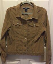 GAP Womens Large Tan Corduroy Jacket  Large Khaki Stretch Coat