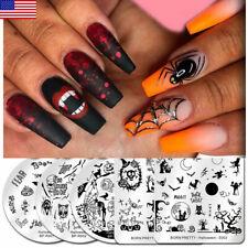 5pcs/set BORN PRETTY Nail Stamping Plates Halloween Theme Template Nail Art DIY