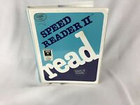 Vintage Speed Reader II Educational Software for Apple II II+ IIe Davidson