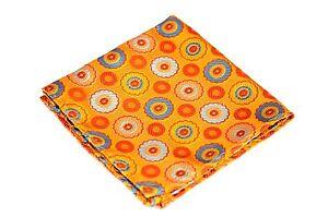 Lord R Colton Masterworks Pocket Square - Sun Glow Starlight - Silk $75 New