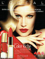 PUBLICITE ADVERTISING  026 2010  L'Oréal maquillage rouge lèvres vernis L. CASTA