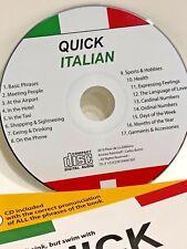 Quick italian book with digital audio CD