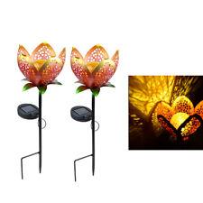 2Piece Flower Solar* Waterproof LED Garden Stake Lights Landscape Lamp