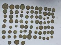 BIG LOT OF 80 ANCIENT ROMAN IMPERIAL BRONZE COINS III-V CENTURY AD
