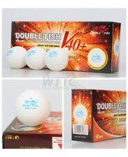 Double Fish V40+ Volant 1 Star Table Tennis Balls (10Pcs) White ITTF Approved