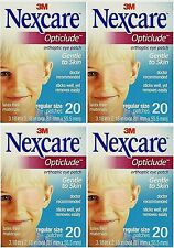 Opticlude Orthoptic Regular Nexcare Eye Patch - 20 Pcs ( 4 pack )