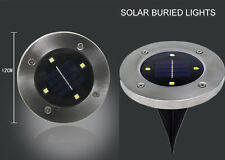 Solar Powered Upgraded 4 LED Buried Inground Recessed Light Garden Lawn Lamp