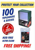 "(100 count) ULTRA PRO Green Border Toploaders 3"" x 4"" (84916-100)"