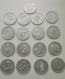 LAST 17 POWER OF THE FORCE REPRODUCTION COIN SET PERFECT FOR CUSTOM PROJECTS