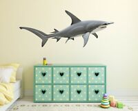 3D Shark N14 Animal Wallpaper Mural Poster Wall Stickers Decal Amy