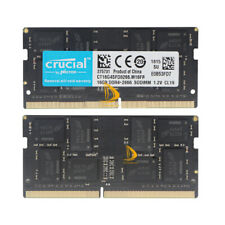 Crucial 2x 16GB 2RX8 DDR4-2666V PC4-21300 1.2V SO-DIMM Laptop Memory RAM & Intel