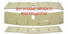 FOR SUBARU IMPREZA STI 2008-2014 gvf STYLE ROOFINS (ABS) WHITE