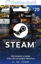 20 EUR códigos de la Cartera de Steam - €20 Euro tarjetas regalo de Steam EU/ES