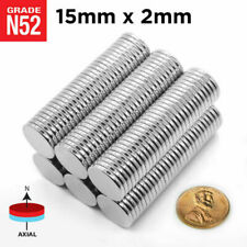 "25pcs 15mm x 2mm 5/8"" x 5/64"" N52 Strong Rare Earth Neodymium Magnet Disc"