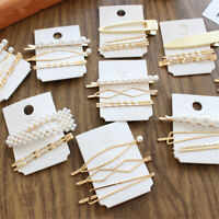 Colorful Geometric Irregular Hairpins  Barrettes Hair Clips Pearl Hairgrips
