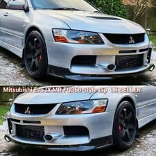 Mitsubishi Lancer EVO 9 IX MR FQ Style Front Splitter Lip Spoiler | UK Seller