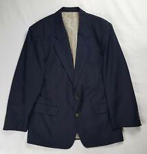 Hugo Boss 100% Wool Blazer Men's 40 Blue Striped