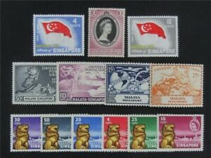nystamps British Singapore Stamp # 23//50 Mint OG H/NH    S17y2672
