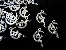 Fairy Charm//Pendant Tibetan Silver 51mm  8 Charms Accessory DIY Jewellery Making
