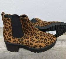 New Look Women's Cagey 2 Pull-on Boots SIZE 8.5 Leopard Print New