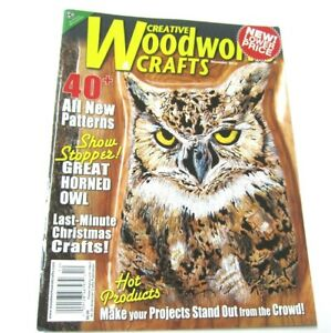 Creative Woodworks & Crafts Magazine 40 Patterns Owl Christmas Woodworking