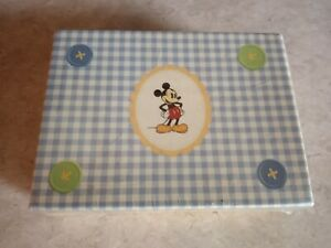 Disney Presents Baby Mickey Mouse.  Blue Plaid  20 ct. Blank inside Announcement