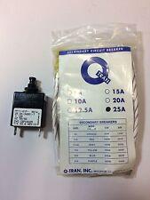 AIRPAX # PP11-61F-0614 Q-TRAN PP11 SECONDARY CIRCUIT BREAKER ( 25 AMPS )