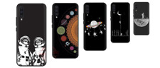 Space Moon Astronaut Cover Case For Samsung A10 A20 A30 A40 A50 A70 M20 M30 Note