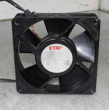 ETRI Fan, Model 98XH, 115V, 50/60 HZ, 13/11 W, Used, Warranty