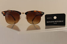 Banana Republic Men Women Fashion Sunglass Gold Brown Leopard Frame UVA/UVB Lens