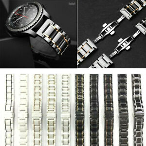 Black / White Ceramic Watch Band Bracelet Fit Samsung Huaiwei Men & Lady Watch