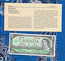 Great Historic Banknotes Canada 1967 P-84a 1 dollar UNC No serial #