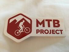 Lot of 2 NEW REI Co-op MTB Project Sticker, Decal Red App MTBproject.com Bike