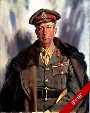 CANADIAN MILITARY GENERAL SIR ARTHUR WILLIAM CURRIE PAINTING ART CANVAS PRINT